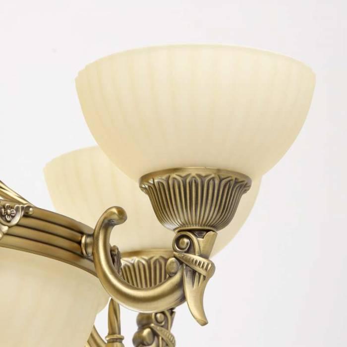 Candelabru auriu cu 7 abajururi Afrodita