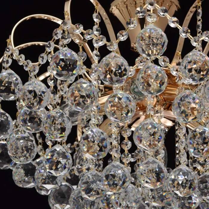 Candelabru auriu cu cristale Elisabeta