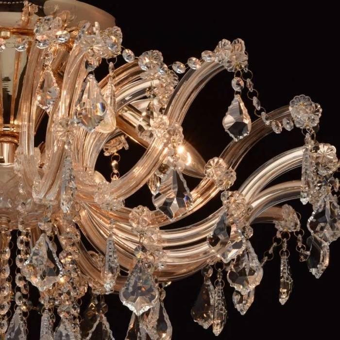 Candelabru auriu cu cristale Luisa