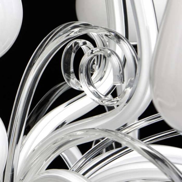 Candelabru clasic alb Rosalia