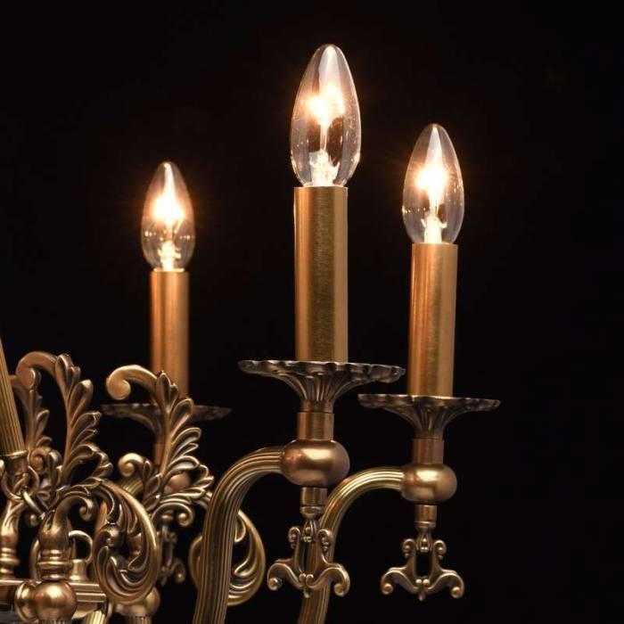 Candelabru clasic arămiu cu cristale Baron