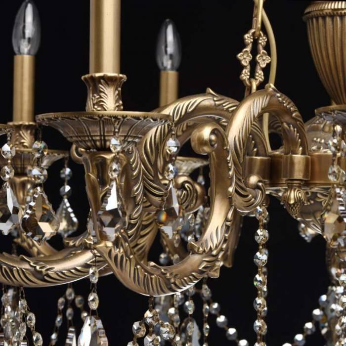 Candelabru clasic arămiu cu cristale Gabriel