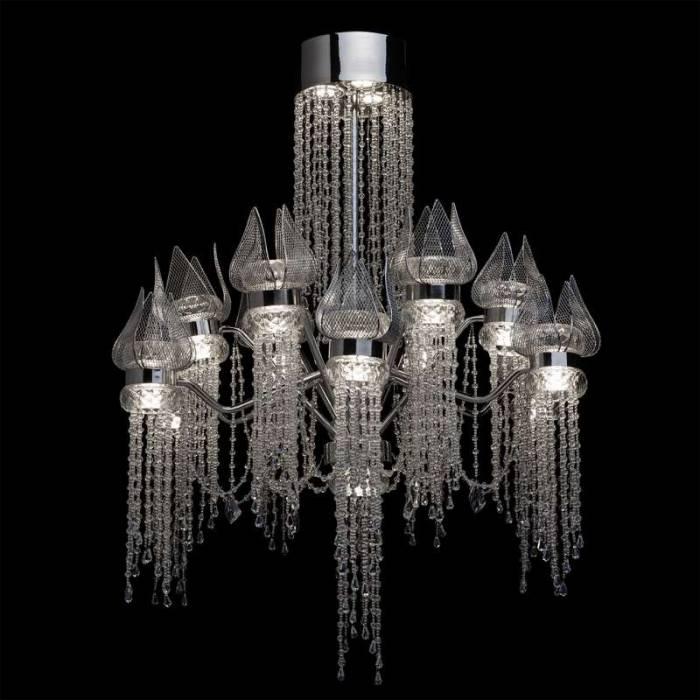 Candelabru clasic cu cristale Lotus