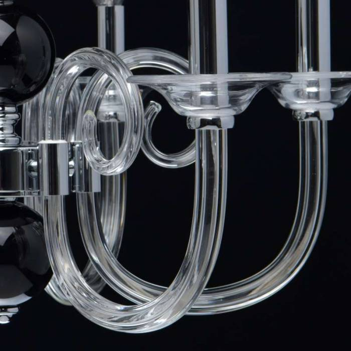 Candelabru clasic din sticlă Ophelia