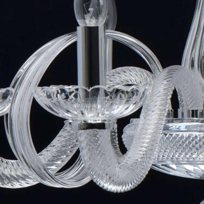 Candelabru clasic din sticlă Yasmine