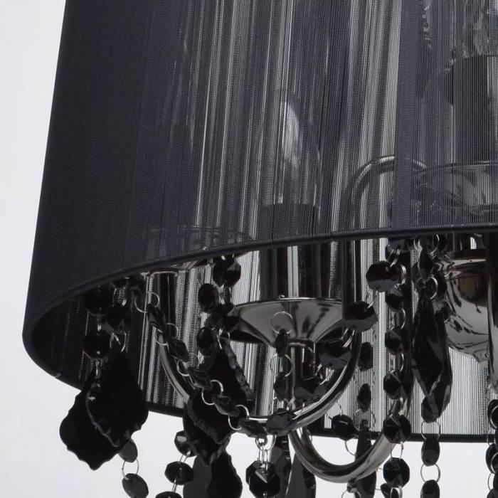 Candelabru clasic negru Minerva
