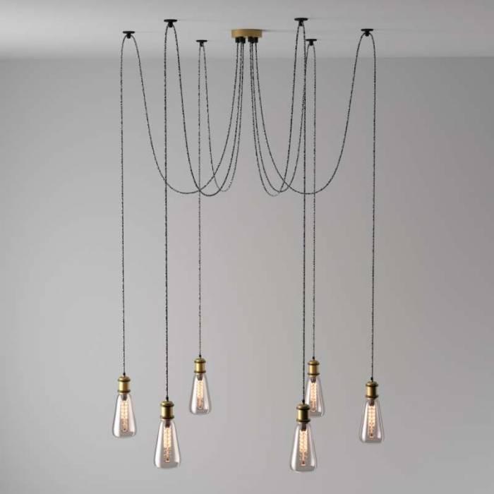 Candelabru Delaine, 216 cm, metal, alama