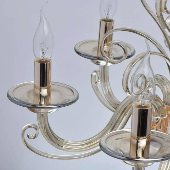 Candelabru elegant din sticlă Agata