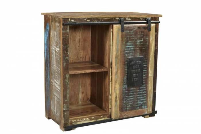 Comodă cu 4 sertare Mercure, 80x38x77 cm, lemn/metal, multicolor