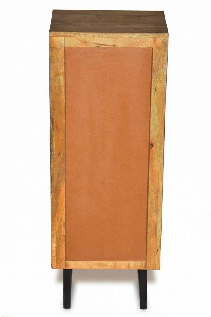Comodă dressing 5 sertare Mosaic, 115x35x45 cm, metal/lemn, maro/negru