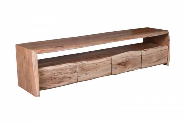 Comodă TV acacia Freya, 45x47x190 cm, acacia/ metal, maro