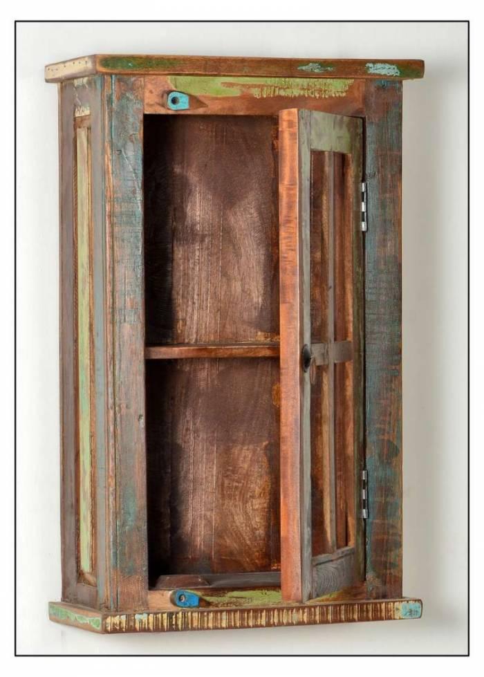 Dulap de baie suspendat Indochina, 72x21x44 cm, lemn, multicolor