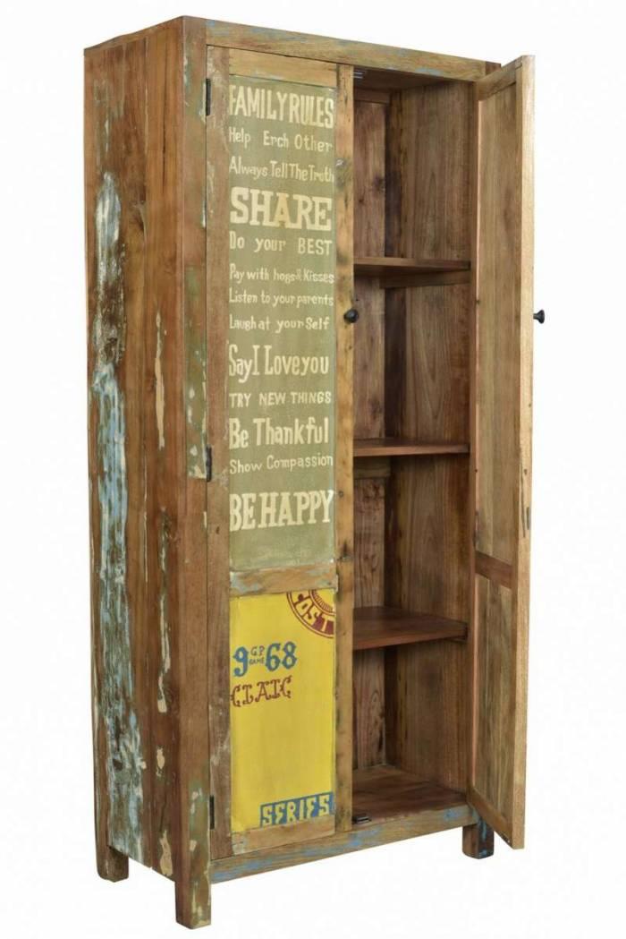 Dulap pentru haine Speedway, 180x40x80 cm, lemn, multicolor
