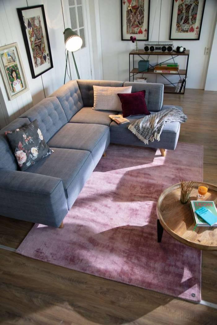 Etajeră mid century modern Tom Tailor, 82x40x120 cm, mango, maro/negru
