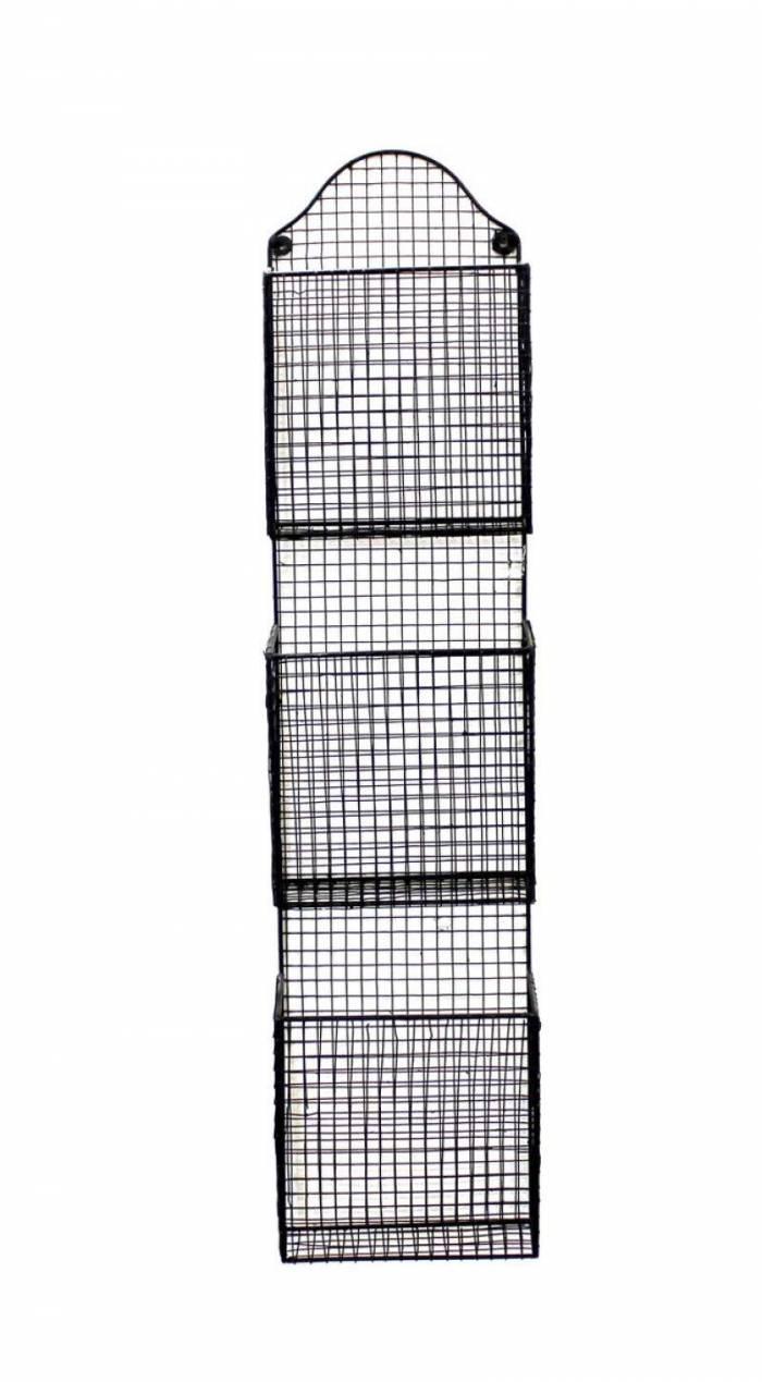 Etajeră suport pentru reviste Austin, 120x15x28 cm, metal, negru