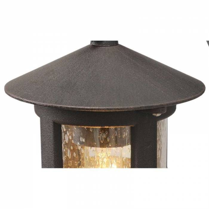Lampă de exterior Beverly, 23x15x30 cm, aluminiu/ sticla, negru