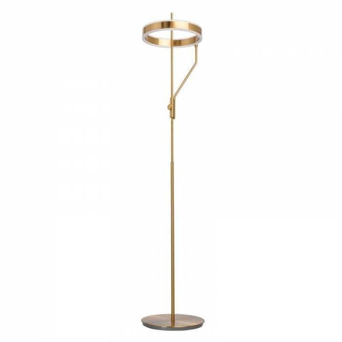 Lampadar auriu cu LED Malik, 153x31 cm, metal/ acril, alama