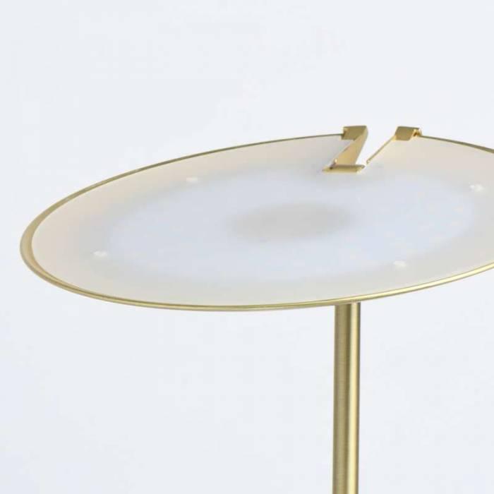 Lampadar metalic cu LED auriu Pablo , 183x27 cm, metal/ acril, alama