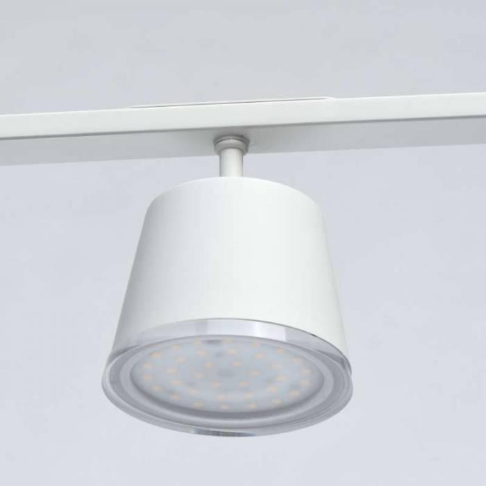Lustră albă Casandra, 150x8.3x110 cm, metal/ acril, alb