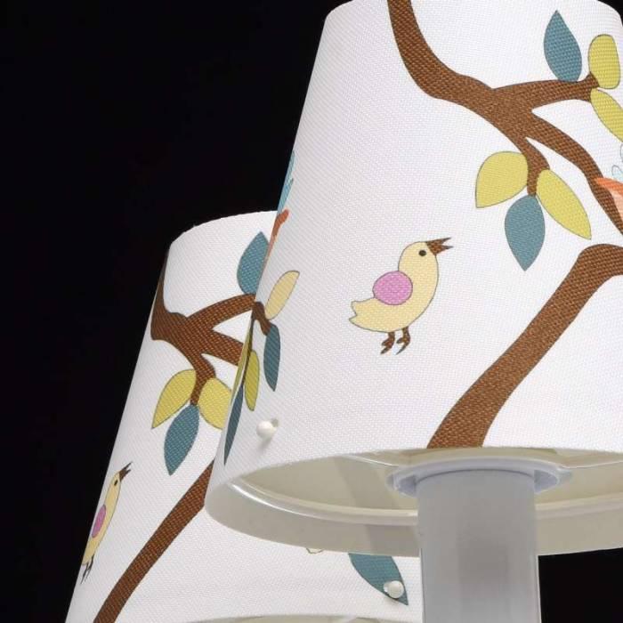 Lustră albă cu păsări Wonderland