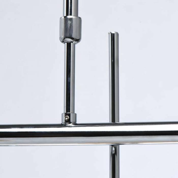 Lustră Berniece, 150x65x93 cm, metal/ sticla, crom