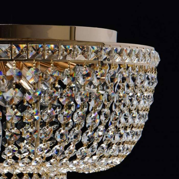 Lustră clasică aurie cu cristale Lorient