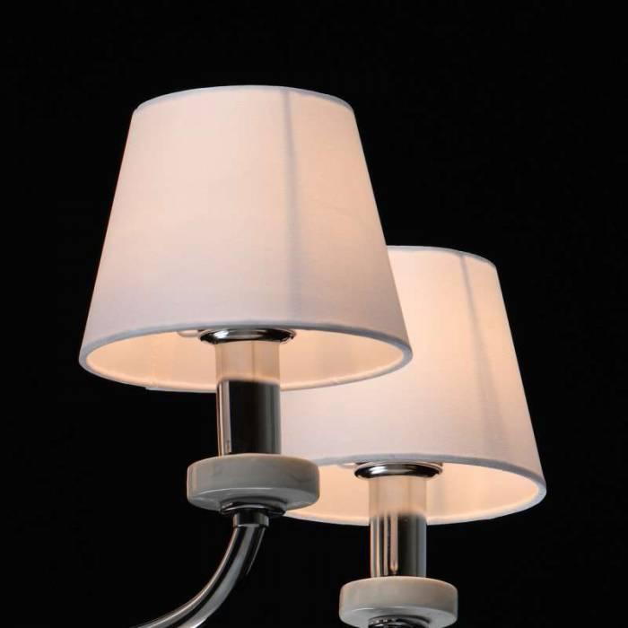 Lustră cu cinci brațe Iona, 83x64 cm, metal/ ceramica/ sticla/ acril, crom