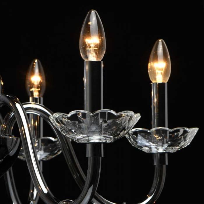Lustră cu cristale Carma, 216x72 cm, metal/ sticla/ cristal, crom