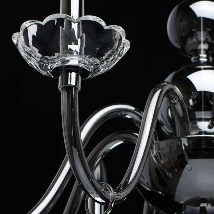 Lustră cu cristale Grace, 216x84 cm, metal/ sticla/ cristal, crom