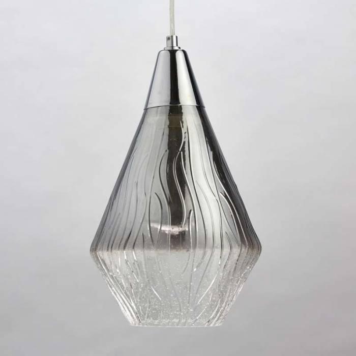 Lustră din metal și sticlă Chloe, 155x18 cm, metal/ sticla, crom
