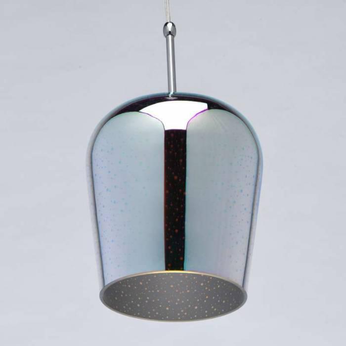 Lustră pendul Lera, 240x20 cm, metal/ sticla, crom
