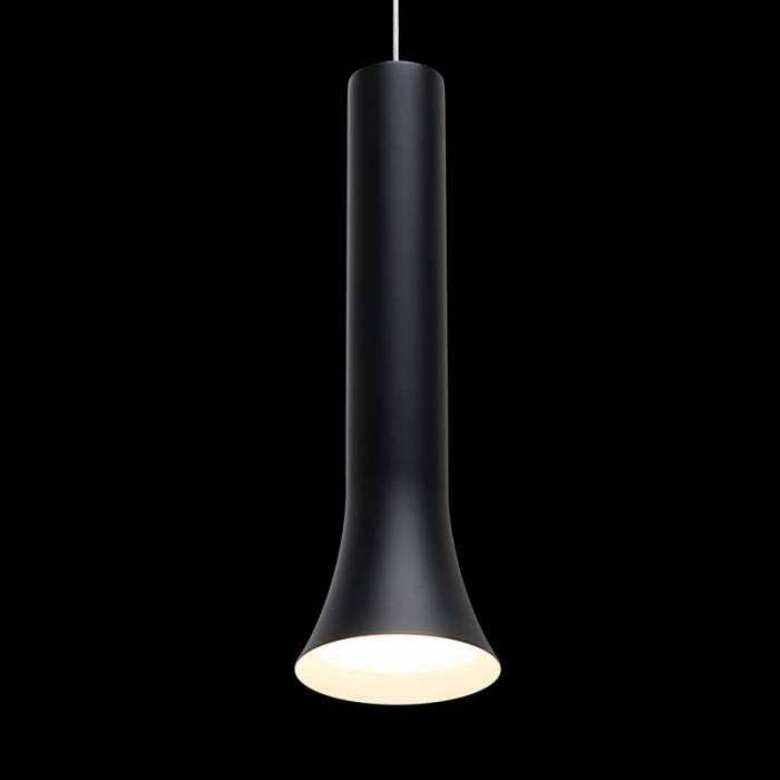 Lustră pendul negru Monroe, 244x10 cm, metal/ aluminiu/ acril, negru
