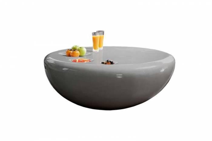 Masă de cafea Orbis, 100cm, fibră de sticlă, gri