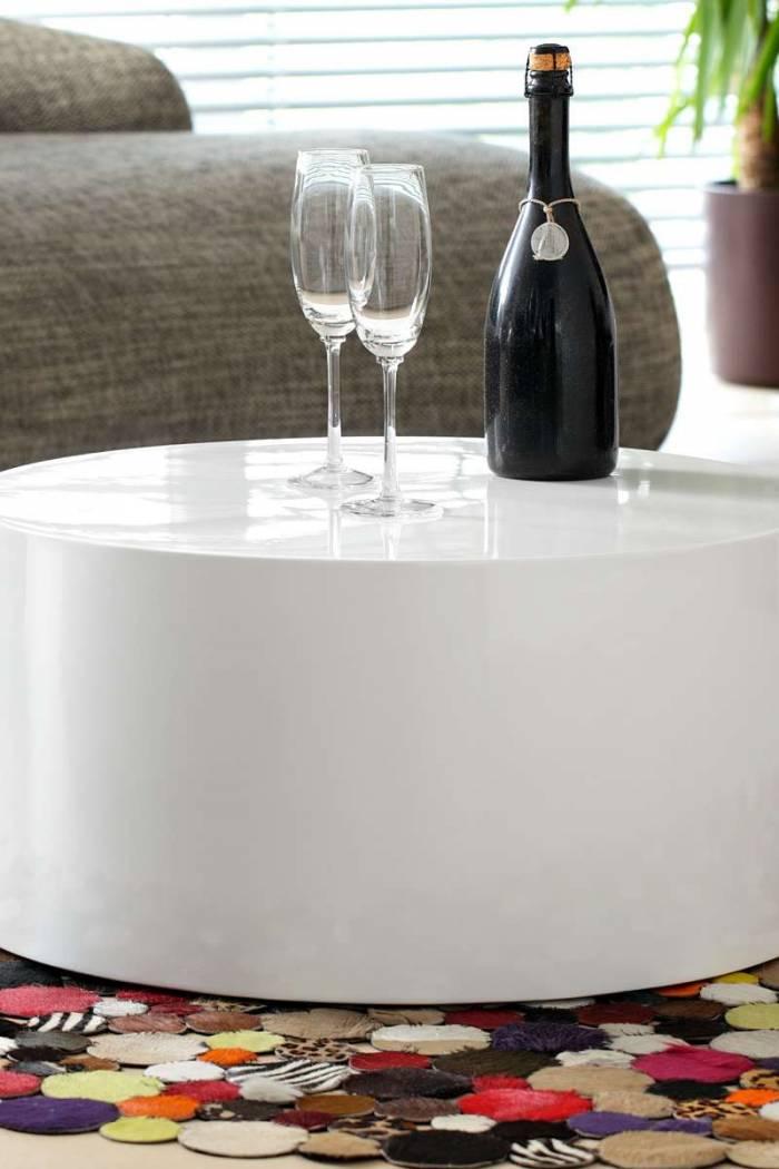 Masă de cafea Rama, 60 cm, MDF, alb