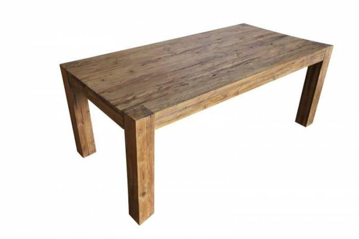 Masă de dining Frama, 78x100x220 cm, lemn, maro
