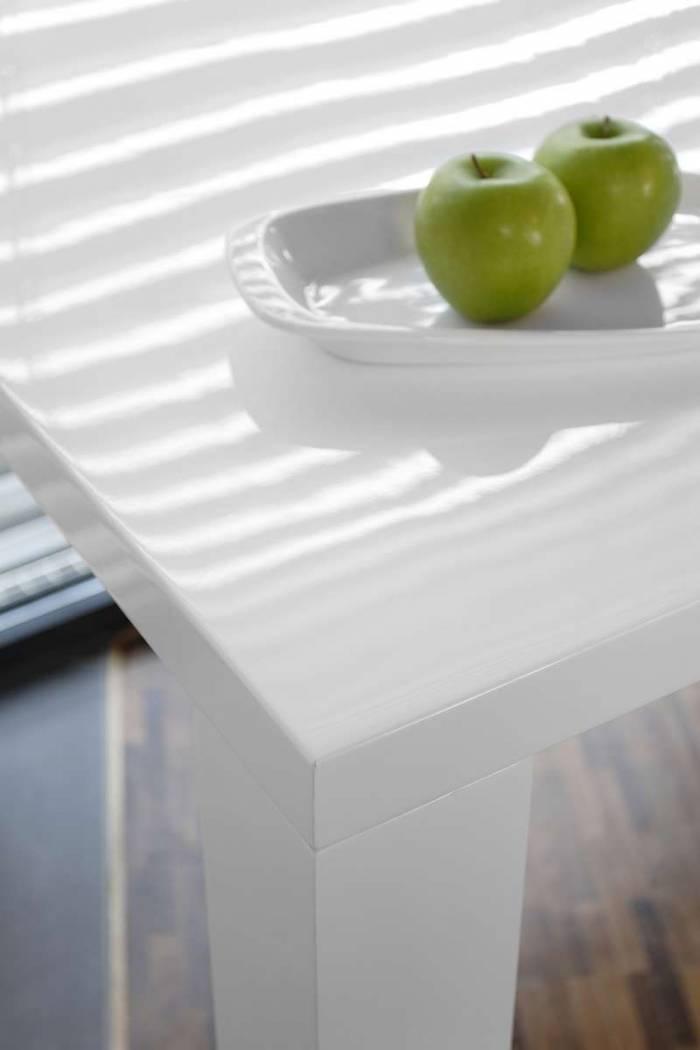 Masă de dining Gloss 180x90x76 cm, MDF, alb