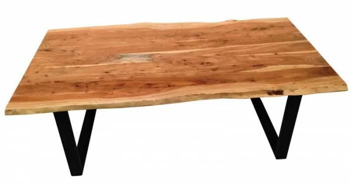 Masă de dining, lemn de acacia, 180x90x77 cm Freya Black
