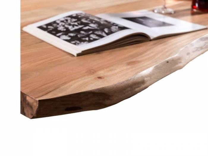 Masă de dining, lemn de acacia, 80x80x76 cm Freya Black - OLD
