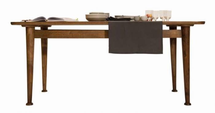 Masă de dining stil scandinav Tom Tailor, 76x90x180 cm, mango, maro