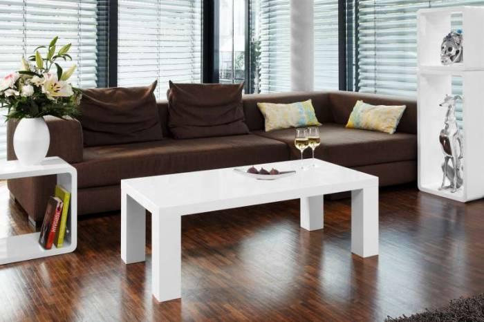 Măsuță de cafea Gloss 120x60x40 cm, MDF, alb
