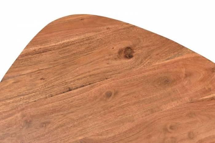 Măsuță de cafea Pablo, 41x49x54 cm, acacia/metal, maro/negru