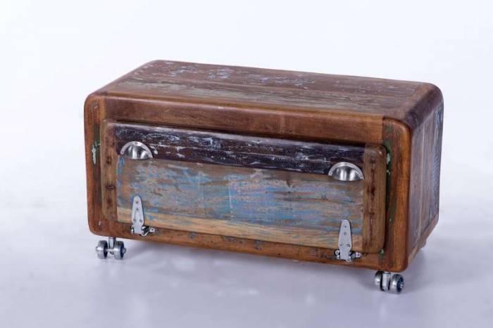 Pantofar simplu Old Boat, 45x40x85 cm, lemn, multicolor