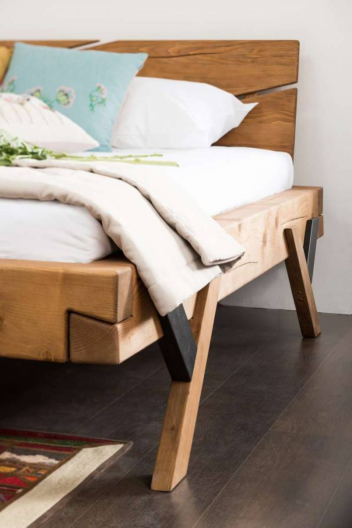 Pat din lemn Nova 180 x 200 cm, molid, natur