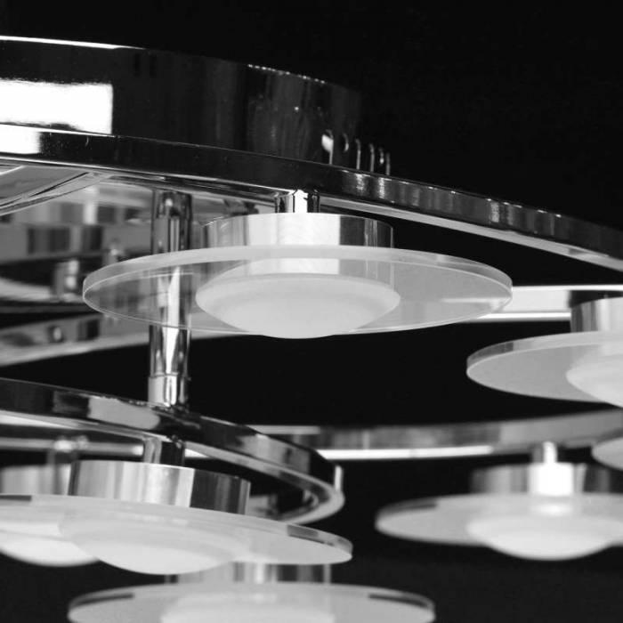 Plafonieră Adella, 15x46x73 cm, metal/ acril/ sticla, crom