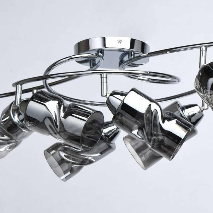 Plafonieră Analisa, 27x55x92 cm, metal/ sticlă, crom