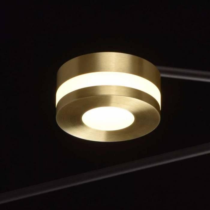 Plafonieră Angeles, 23x98 cm, metal/ aluminiu/ acril, negru