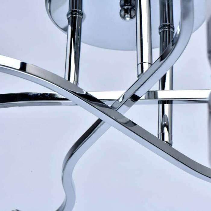 Plafonieră argintie Angelia, 20x60 cm, metal/ sticla, crom