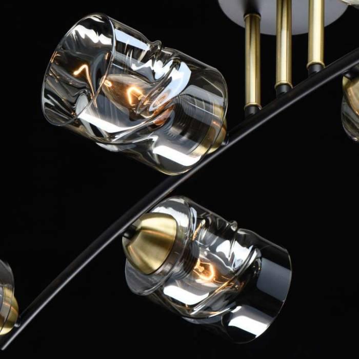 Plafonieră Aura, 23x32x82 cm, metal/ sticla, negru