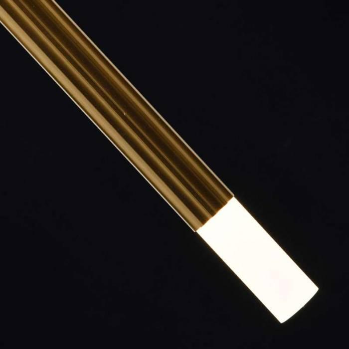 Plafonieră aurie cu cinci brațe Penelope, 150x6x75 cm, metal/ aluminiu/ acril, alama