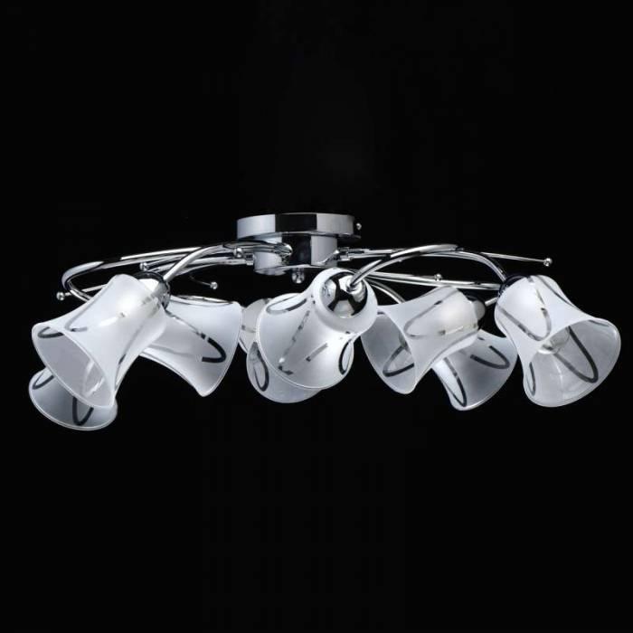 Plafonieră Avelina, 21x80 cm, metal/ sticla, crom
